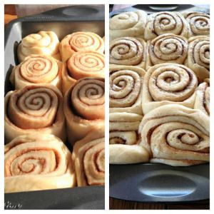 Right (before baking) Left (Once baked)